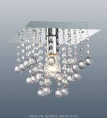 wonderful modern ceiling lights uk palazzo polished chrome square light with acrylic droplets 1