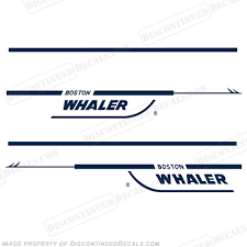 Boston Whaler 21 Walk Around Decal Kit Any Color