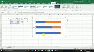 How To Create A Gantt Chart By Using Microsoft Excel 2016