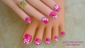 Nail Art Flower Designs Simple Flower Nail Art - FACE MAKEUP IDEAS