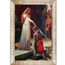 the accolade 1901 by edmund leighton framed graphic art