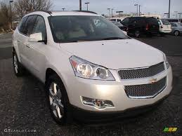 White Diamond Tricoat 2012 Chevrolet Traverse LTZ AWD Exterior ...