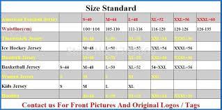 Reebok Throwback Jersey Size Chart 51 Valid Nfl Jersey Sizes Chart