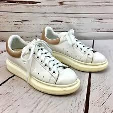 Alexander Mcqueen Sneakers Size Chart Alexander Mcqueen 36 Us 6 White Pink Suede Leather