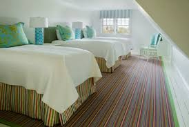 Carpeting Room Settings Gallery: Bold Striped Carpet In Bedroom, The Bold  Multi Color