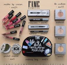 fame cosmetics is a brand that launched in 2016 where their first was their matte lip cream which till today is a local cult favourite among many