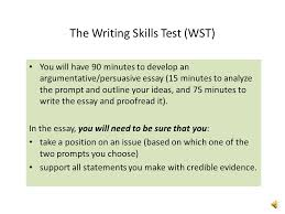 for more information these resources ppt video online  the writing skills test wst