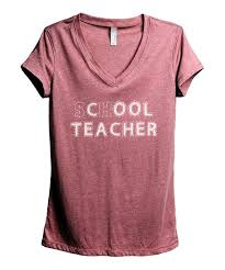 Zulily Size Chart Thread Tank Heather Rouge Cool Teacher V Neck Tee