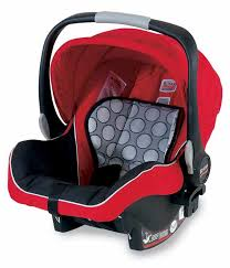 britax b safe infant car seat red product shot