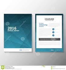 abstract blue vector annual report leaflet brochure flyer template design book cover layout design stock