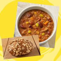 cup turkey chili sprouted grain roll