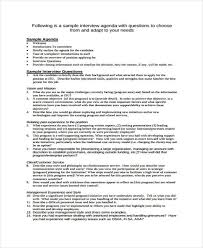 job interview template interview agenda format 9 free sample example format download