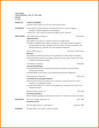6 Flight Attendant Resume Sample With No Experience Points Of Origins