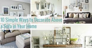 image decorate. 10 Simple Ways To Decorate Above A Sofa In Your Home - Decorating With Less Image