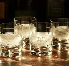 amazon gifts for men whiskey es rocks bourbon gles set of 4 handmade