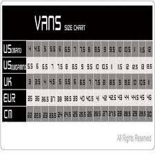 Rigorous Size Chart Sepatu Vans Puma Unisex Size Conversion