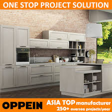 oppein italy design transitional natural ash solid wood kitchen cabinet op14 106