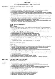 Entry Level Network Engineer Resume Sample Entry Level Civil Engineer Resume Sample 17 Engineering 11 Examples