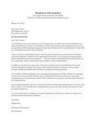Cover Letter For Nanny Job The Letter Sample