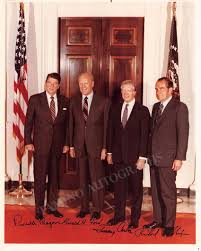 Reagan, Ronald - Ford, Gerald - Carter, Jimmy - Nixon, Richard - Signe