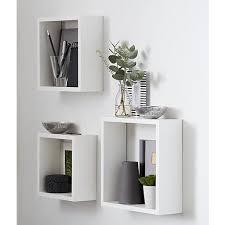 mdf decor floating wall cube shelf