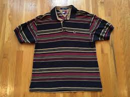 vintage tommy hilfiger striped polo size l rugby shirt brown black red grey tan vintage tommy hilfiger striped polo size l rugby shirt brown black red