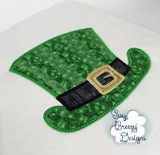 Machine Embroidery Designs For Hats Lucky Top Hat Applique Embroidery Design Machine