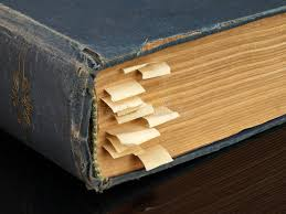 the old book with bookmarks stock image image of bookmarks text 35213971