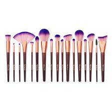 gwa s fairytale collection is a 17 piece makeup brush set made up of free and super soft brushes with purple ombre brush hairs bined with wooden