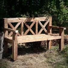 wooden bench outdoor