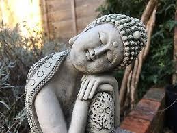 resting buddha garden ornaments hand