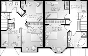 Knowles Duplex Home Plan D    House Plans and MoreMulti Family House Plan Second Floor   D    House Plans and More