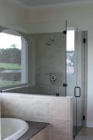 shower with half wall and glass glass shower w half wall shower wall glass panels custom