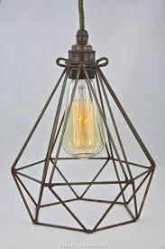 diamond wire pendant light diamond wire lamp cage vintage industrial pendant cloth cord trouble light chandelier