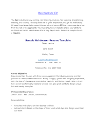 Resume Example Of Hair Stylist Resumes Toreto Co Sample Objective