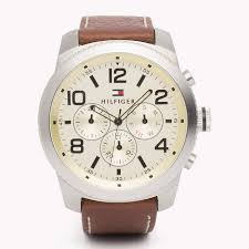 brown tommy hilfiger leather strap watch men th3597 fashion brown tommy hilfiger leather strap watch men th3598