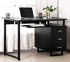 home office black desk. Merax Multipurpose Home Office Black Computer Desk With Pull-Out Keyboard  Tray And Drawers Home Office Black Desk U