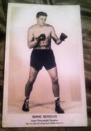 Two Photos Bernie Reynolds Heavyweight Champion Boxer 1946 - 1953+ ...