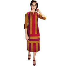 Kurta Top Designs Ladyline Designer Handloom Cotton Kurti Kurta Indian Women Tunic Top Stylish 3 4 Sleeves