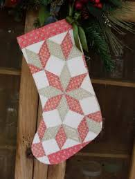 Porch Swing Quilts: Friday Finish: Stockings! | Patchwork and ... & Vintage Red and Green Star Quilt Christmas Stocking Adamdwight.com