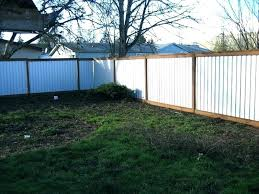 sheet metal fence. Delighful Fence Sheet Metal Fence Privacy Out Of Corrugated  How To Build A Panels Color Throughout