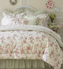laura ashley yorkshire rose 4 piece comforter set king chic beddingshabby
