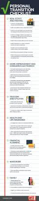personal transition checklist infograph gi jobs personal transition checklist