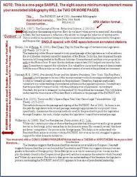 apa format annotated bibliography   program format Annotated bibliography