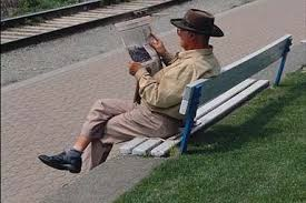 Image result for man sitting in park bench toeic picture