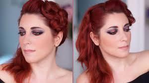 smoky eyes rouge et bleu tuto makeup face2face makeup