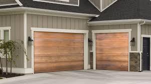 martin elite copper modern style residential garage door