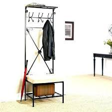 Storage Bench And Coat Rack Set Impressive Entryway Bench And Coat Rack Set Coat Rack With Bench Entryway
