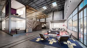 warehouse office design. Exellent Warehouse Warehouse Rendering To Office Design