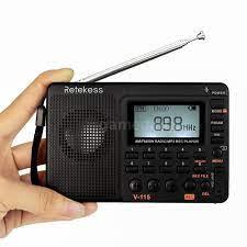 Máy Nghe Nhạc Mp3 Retekess V-115 Fm / Am / Sw Và Phụ Kiện